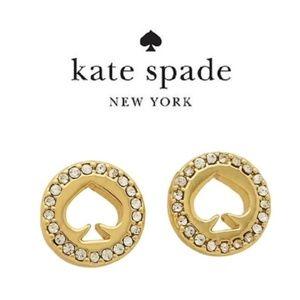 Kate Spade earrings gold crystal earrings